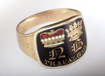 Gold mourning ring commemorating Vice-Admiral Horatio Nelson (1758-1805) by unknown - print