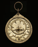 Astrolabe: mounted obverse by al-Sarraj - print