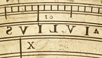 Astrolabe: detail of inscription 'julius' in reverse by unknown - print