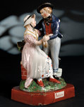 Earthenware figure group depicting a sailor and lass by unknown - print