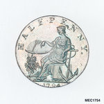 Emsworth halfpenny token commemorating the Battle of the Nile, 1798 by Arnold; W. Lutwyche - print