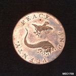 Emsworth halfpenny token by T. Wyon - print