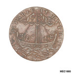 Cinque Ports halfpenny token by T. Wyon - print