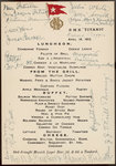 'Titanic' luncheon menu, signed by passengers, 14 April 1912 by unknown - print