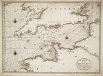 Chart of the English Channel and the Atlantic coasts of southern Britain and northern France by Anonymous - print