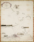 A chart containing the traverse of HMS 'Goliath' on the Jamaica Station 1802 by Anonymous - print
