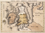 Map of England, Ireland and Scotland by Luis Teixeira - print