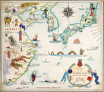 Comic map of the South China Sea and Yellow Sea, 1932 by Antonio Millo - print