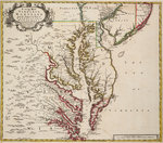 Map of Virginia by British Admiralty - print