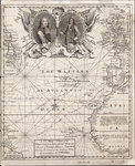 A new map or chart of the western or Atlantic ocean with part of Europe, Africa and America: showing the course of the galleons to and from the West Indies by Gerard van Keulen - print