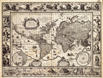 Mercator map of the world, 1606 by British Admiralty - print