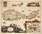 Map of Malta and Gozo by Luis Teixeira - print
