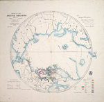 Chart of the Arctic regions from the Admiralty surveys, third edition by William Henry Smyth - print