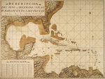 Chart of the Gulf of Mexico and Caribbean islands, 1742 by Anonymous - print