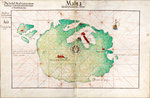 Map of Malta by Battista Agnese - print