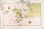 Chart of Chius (Chios, Greece), 1554 by Battista Agnese - print