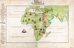 Vellum chart of Africa, India and the Mediterranean by Battista Agnese - print