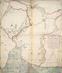 The description of the castle and landes of Insbeguin lying within 3 miles of Yohall on the west side thereof by John Blaeu - print