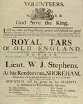'Royal Tars of Old England', a recruitment poster for volunteers by unknown - print