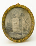 Silk picture 'To the Memory of Nelson' by Emma Hamilton - print