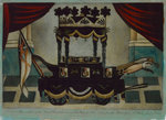 A Correct Representation of the Funeral Car which conveyed the Body of Lord Nelson from the Admiralty to St Paul's' by unknown - print