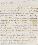 Letter from Lady Nelson to Alexander Davison, front page by Louis Decres - print