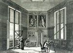 Interior of the Octagon Room at the Royal Observatory, Greenwich, London by William Hogarth - print