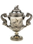 Cup presented by Thames Navigation & Port of London Committee, 1858 by E. Terry & Co. - print