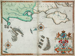 The English and Spanish fleets between Portland Bill and the Isle of Wight on 2 - 3 August 1588 by Antonio Millo - print