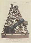 Herschel's Grand Forty feet Reflecting Telescopes by William Havell - print