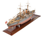 Shipbuilder's model of Japanese battleship HIJMS 'Fuji' (1896) by unknown - print