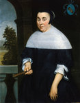 Portrait of Anna van Gelder by Claude Arnulphy - print