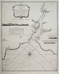 A plan of the road and harbour of Fowey or Foy by Lieutenant James Cook of the Royal Navy by John Blaeu - print