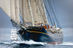Topsail Schooner 'Gulden Leeuw' during Lerwick to Stavanger Tall Ships Race 2011 by Richard Sibley - print