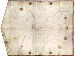 Portulan chart constructed by William Borough showing the sea area of the North Sea and Baltic, from the east coast of England to the head of the Gulf of Sweden, circa 1580 by Bartolommeo dalli Sonetti - print