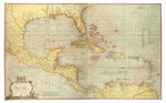 Chart of the West Indies by Gerard van Keulen - print