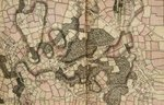 Map of Mottingham, Bromley and Chislehurst by Nikolaus Visscher - print