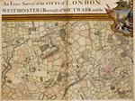 Map of Willesden and Hampstead by Sayer & Bennett - print