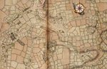 Map of Northolt, Harrow and Wembley by Nikolaus Visscher - print