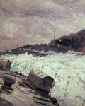 Destroyer smoke screen (detail) by Norman Wilkinson - print