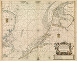 Chart of the North Sea and Dutch coast, 1661 by Sayer & Bennett - print