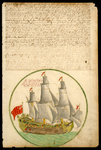 The 'Cadiz Merchant' under way, 1682 by unknown - print