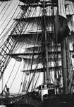 Approaching an anchorage, sails bunted up by unknown - print
