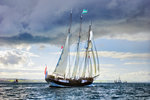 Topsail schooner 'Oosterschelde' during Hartlepool Parade of Sail 2010 by Richard Sibley - print