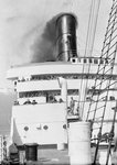 Decks and funnel view of 'Caronia' by Marine Photo Service - print