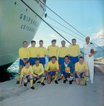 The 'Gripsholm's' crew football team by Marine Photo Service - print