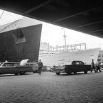 The 'Queen Mary' and 'Iberia' in New York by Marine Photo Service - print