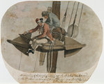 A Marine & Seaman fishing off the Anchor on board the Pallas in Senegal Road by Gregory Robinson - print