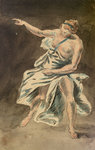 Female figure in classical dress by James Henry Butt - print