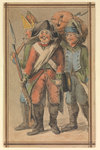 Three soldiers in uniform by James Henry Butt - print